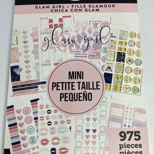 NWT The Happy Planner Glam Girl Mini 975 Pieces